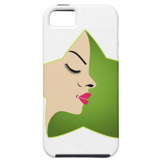 A lady's face in a flower iPhone SE/5/5s case