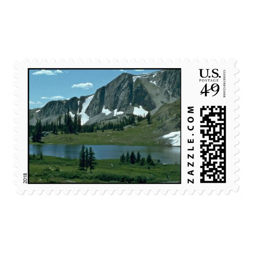 A Lake At The Mountain Stamps