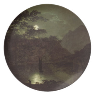 A Lake by Moonlight, c.1780-82 (oil on canvas) Plates