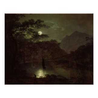 A Lake by Moonlight, c.1780-82 (oil on canvas) Poster