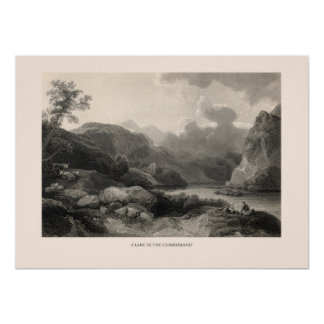 A Lake in Cumberland Poster