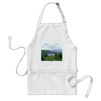 A lake in the middle of a forest adult apron
