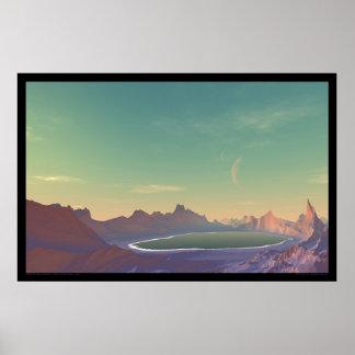 A Lake On Planet Azira Poster