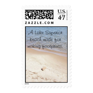 A Lake Superior Beach Postage