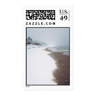 A Lakeshore Winter Stamp