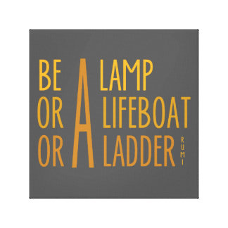 A Lamp, A Lifeboat, A Ladder Canvas Print