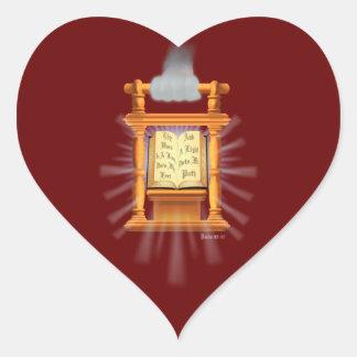 A Lamp Unto My Feet Heart Sticker