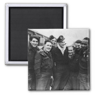 A Lancaster Bomber Crew 2 Inch Square Magnet