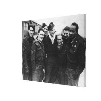 A Lancaster Bomber Crew Canvas Print