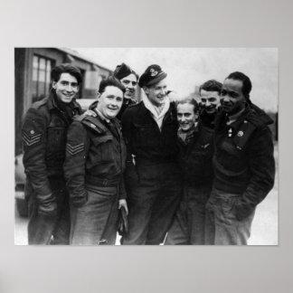 A Lancaster Bomber Crew Poster