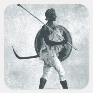A lancer of Tigre Square Sticker