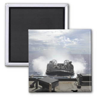 A landing craft air cushion 2 inch square magnet