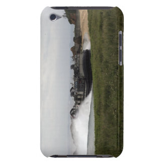 A landing craft air cushion comes ashore barely there iPod case