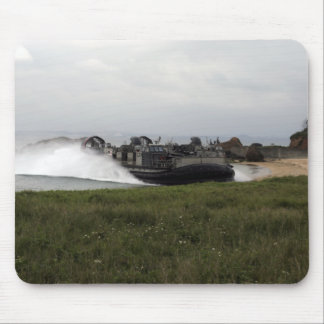 A landing craft air cushion comes ashore mouse pad
