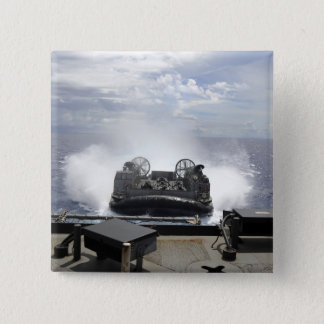 A landing craft air cushion pinback button