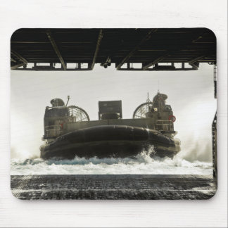 A landing craft air cushion prepares to enter mouse pad