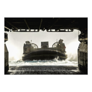 A landing craft air cushion prepares to enter photo print