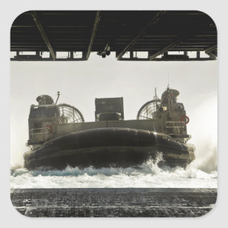 A landing craft air cushion prepares to enter square sticker