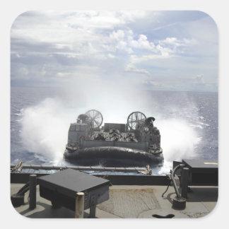 A landing craft air cushion square sticker