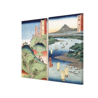 A landscape and seascape canvas print