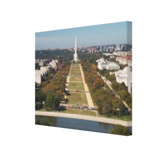 A landscape view of Washington DC Canvas Print