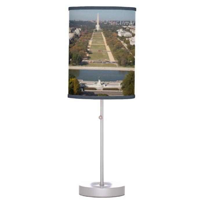 A landscape view of Washington DC Desk Lamp