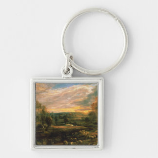 A Landscape with a Shepherd and his Flock Keychain