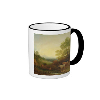 A Landscape with Cattle and Figures by a Stream an Ringer Mug