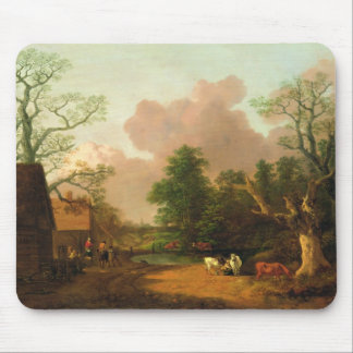 A Landscape with Figures, Farm Buildings and a Mil Mouse Pad