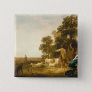 A Landscape with Shepherds and Shepherdesses Button
