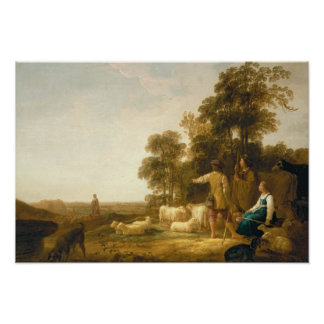 A Landscape with Shepherds and Shepherdesses Poster