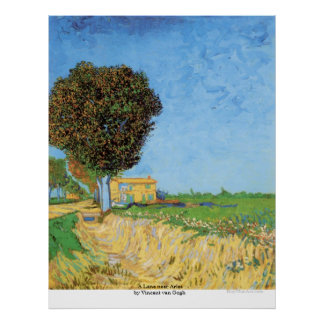 A Lane near Arles by Vincent van Gogh Poster