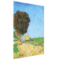 A Lane near Arles, Vincent van Gogh. Stretched Canvas Print