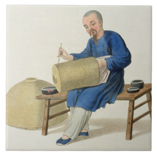 A Lantern Painter, plate 20 from 'The Costume of C Ceramic Tile