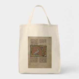 A Large Bird and a Man Tote Bag