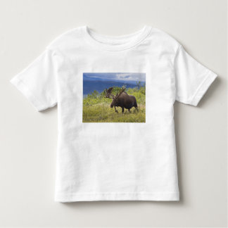 A large bull moose stands among willows tee shirt