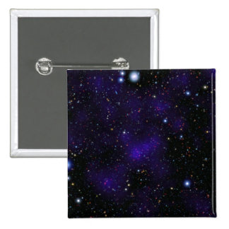 A large collection of galaxies 2 inch square button