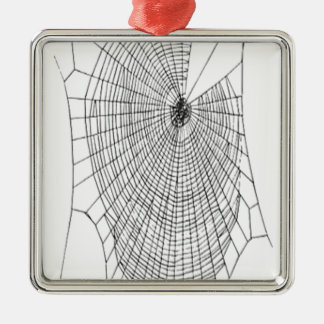 A Large Illustration Of A Spider's Web Metal Ornament