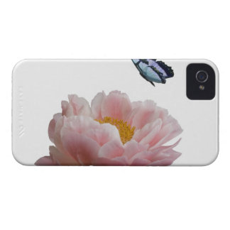 a large pink peony is visited by a ethereal Case-Mate iPhone 4 case