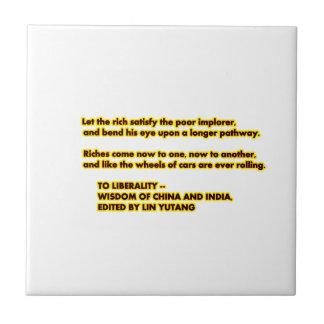 A las palabras del amarillo Red2 de la LIBERALIDAD Azulejo Cuadrado Pequeño