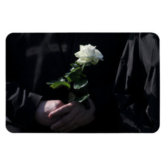A Last White Rose Magnet