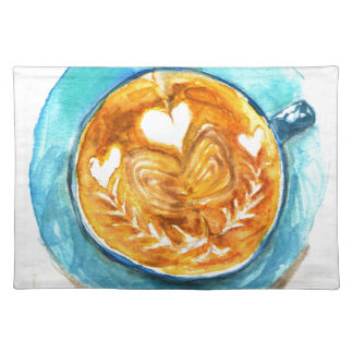A Latte with Love Cloth Placemat
