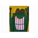 A laughing frog is looking at you life is good postcard
