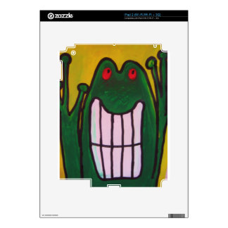 A laughing frog is looking at you life is good decals for the iPad 2