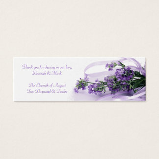 A Lavender Blessing Sachet Tag