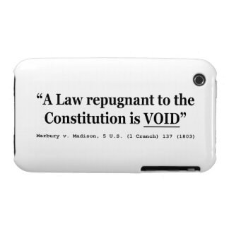 A Law Repugnant To The Constitution Is Void iPhone 3 Cover