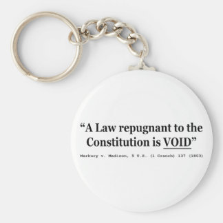 A Law Repugnant To The Constitution Is Void Keychain