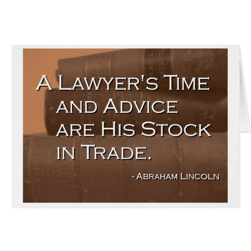 A Lawyer's Time and Advice Card