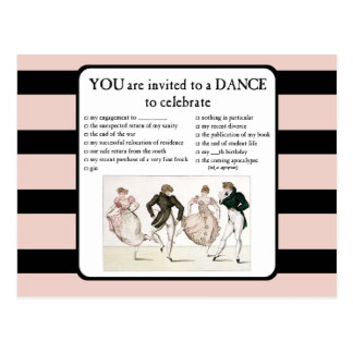 A le invitan a una danza que celebre tarjetas postales