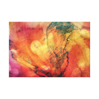 A Leaf In The Wood Autumn Art Abstract Canvas Print